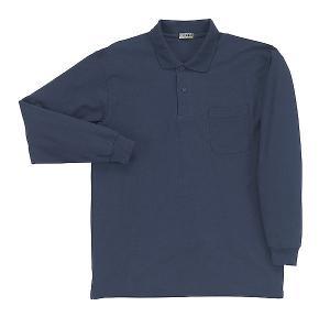 T/C長袖鹿の子ポロシャツ